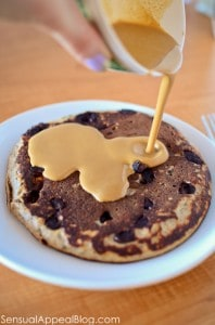 chocolate chip cookie protein pancakes