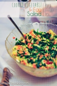 Cooked Vegetable and Egg salad - Traditional Polish Holiday Dish