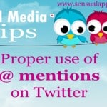 Twitter Tips: Using @ mentions correctly for success #blogging #twitter #socialmedia #marketing