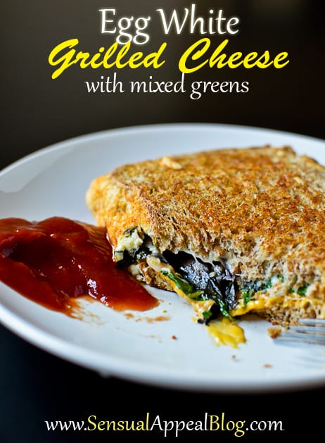 Grilled cheese recipe with egg whites and mixed greens egg white grilled cheese with mixed greens totally making this for the next breakfast for forumfinder Images