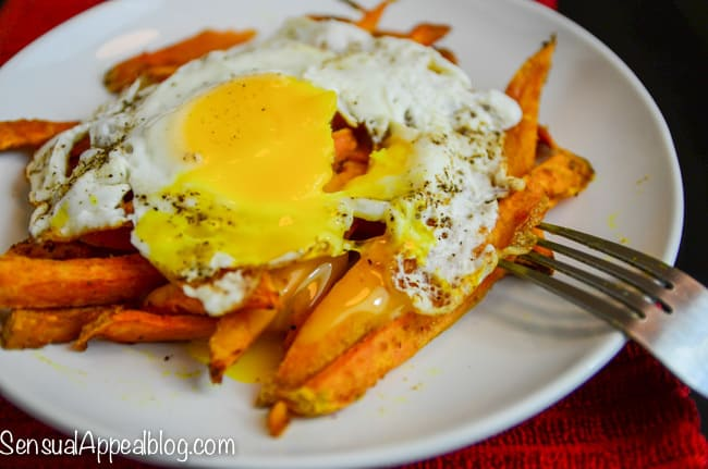 Sunny Side Sweet Potato Fries  - a healthier twist on an Irish brunch recipe