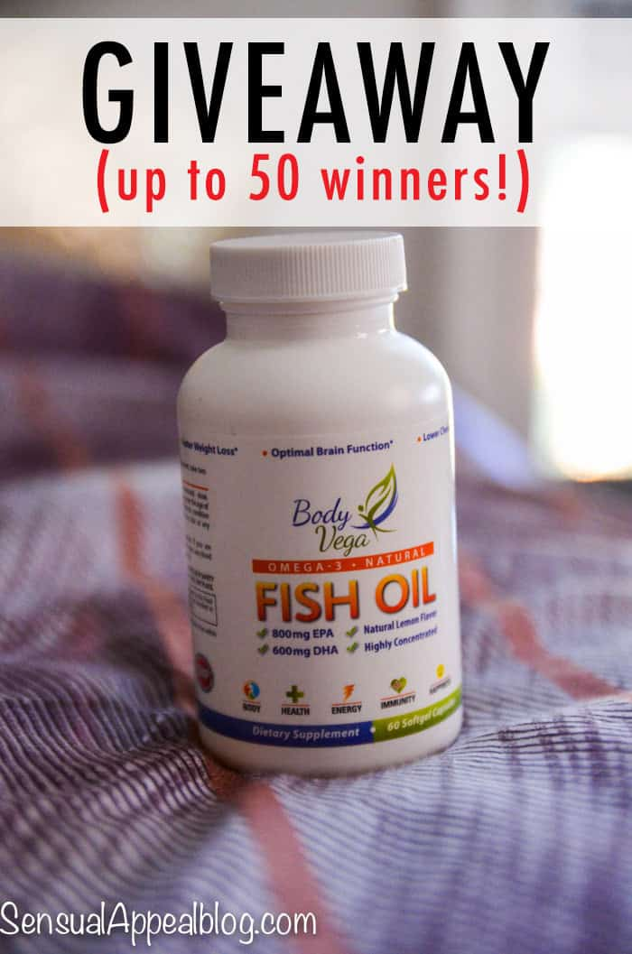 Bodyvega fish oil review giveaway up to 50 winners for When to take fish oil