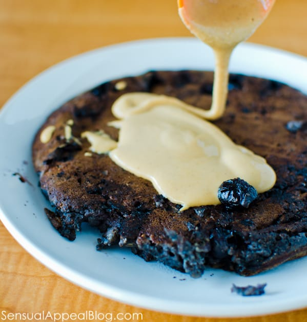 blueberry chocolate pancake