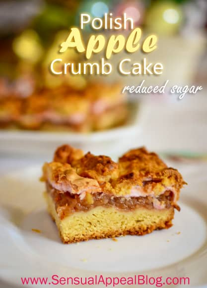Apple Crumb Cake (reduced sugar)