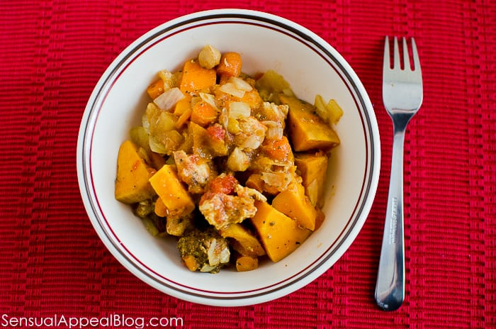 Crock Pot Chicken and Chickpea Curry by sensualappealblog.com