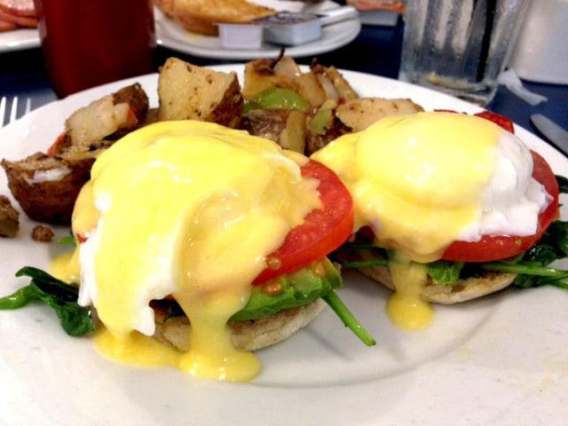 Eggs benedict in Pasadena, CA