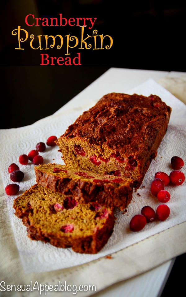 Cranberry Pumpkin Bread halloween recipe for #MyMarianos #shop #Cbias