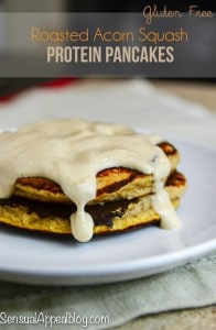 Roasted Acorn Squash Protein Pancakes (gluten free) for #MyMarianos #CBias #shop