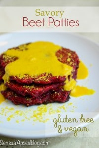 Savory Beet Patties (gluten free and vegan)