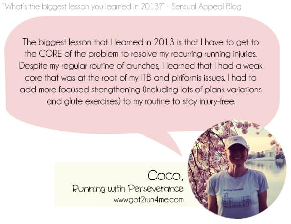 What is the biggest lesson you learned in 2013? Sensual Appeal
