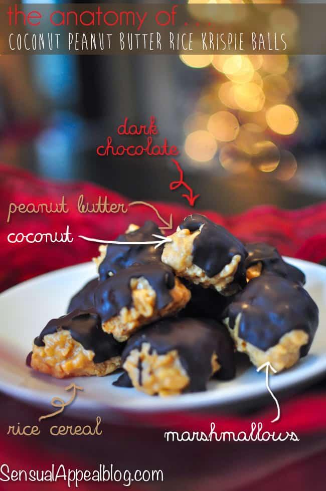 Chocolate-Glazed Coconut Peanut Butter Rice Krispie Balls #KraftEssentials #shop #Cbias