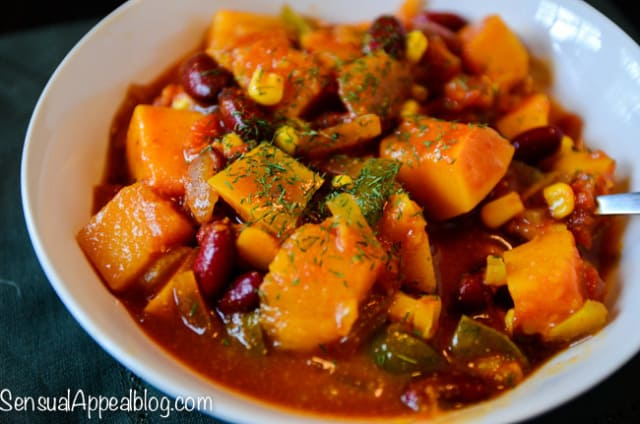 Crock Pot Butternut Chili