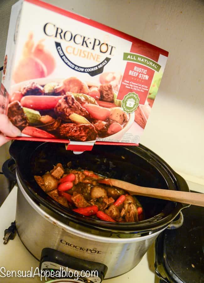 Delicious crock pot dinner!