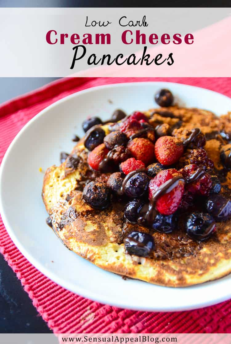 Low Carb Cream Cheese Pancakes (sugar-free and gluten-free) #TimetoBelieve #CleverGirls #ad