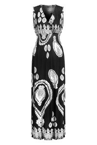 G2 Chic® Women's Summer Tribal Printed Maxi Dress