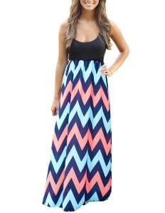 Kranda® Women Sleeveless Striped Long Full Length Summer Beach Dress(FBA)