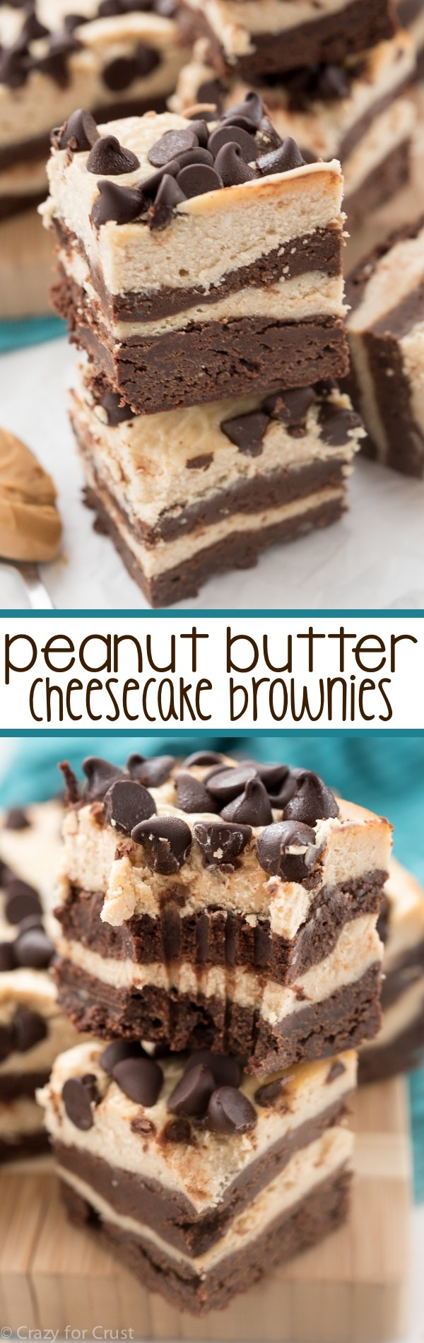 Get the recipe ♥ Peanut Butter Cheesecake Brownies #besttoeat @recipes_to_go