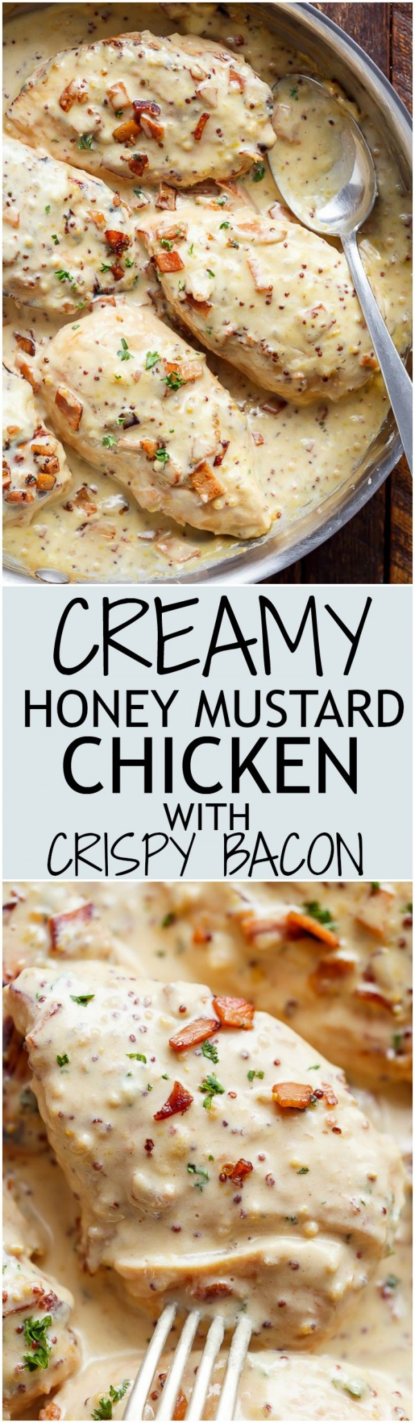 50 Best Chicken Recipes Ever - Get the recipe ♥ Creamy Honey Mustard Chicken with Crispy Bacon @recipes_to_go
