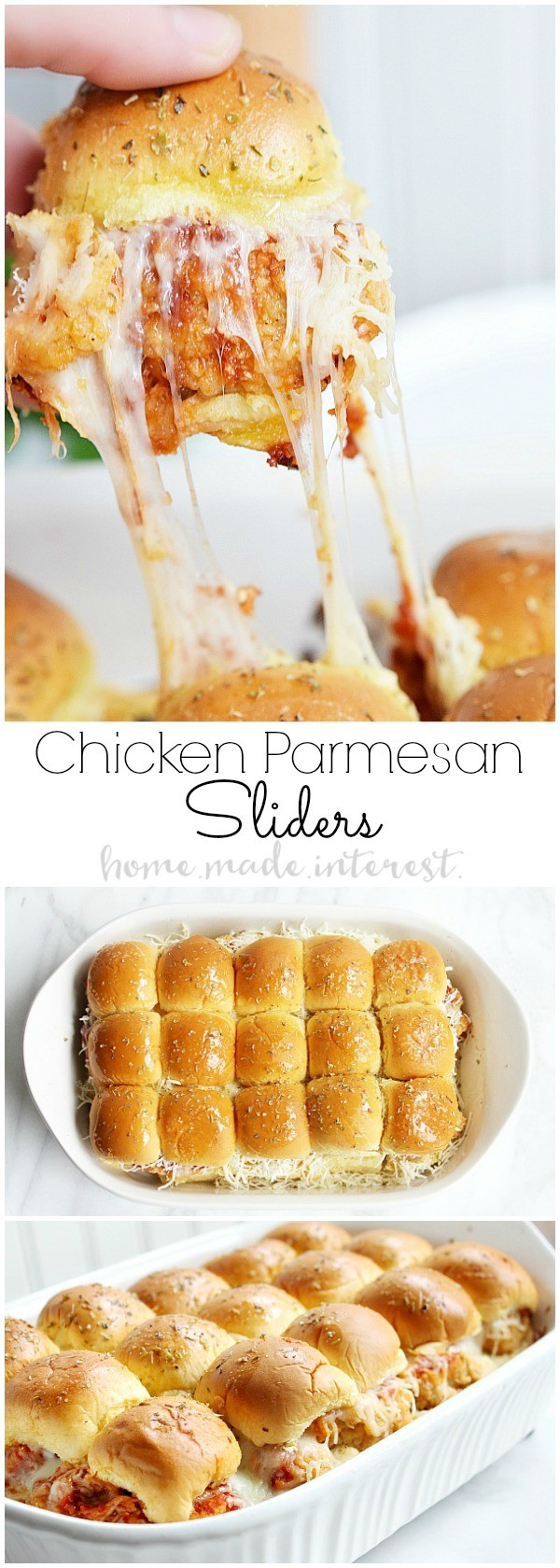 50 Best Chicken Recipes Ever - Get the recipe ♥ Chicken Parmesan Sliders @recipes_to_go