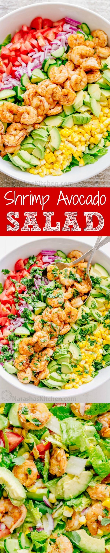 50 Best Healthy Salad Recipes Ever - Get the recipe ♥ Shrimp Avocado Salad #besttoeat @recipes_to_go
