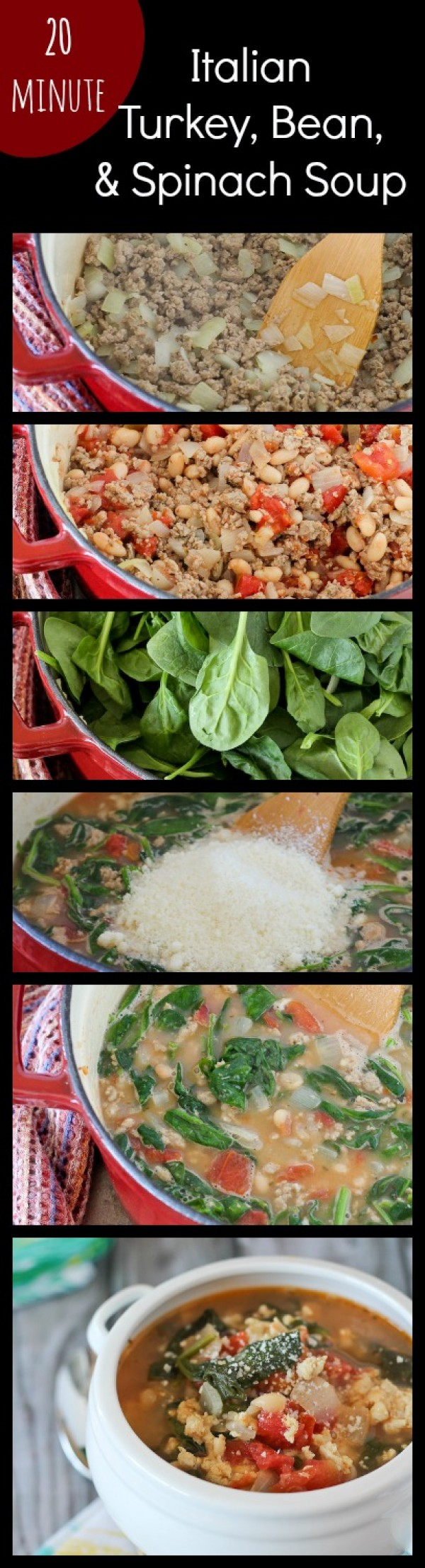 Get the recipe Italian Turkey Bean and Spinach Soup @recipes_to_go