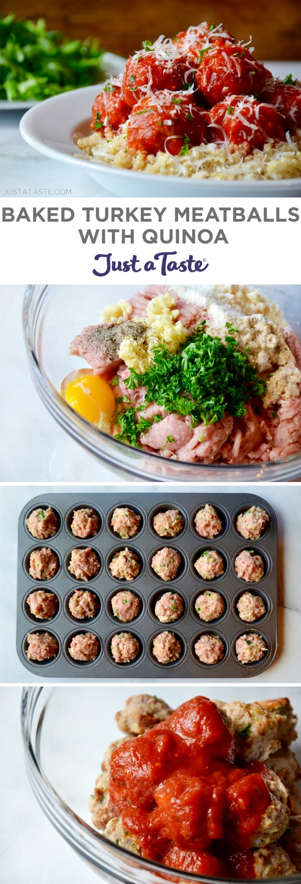 Get the recipe Baked Turkey Meatballs with Quinoa @recipes_to_go