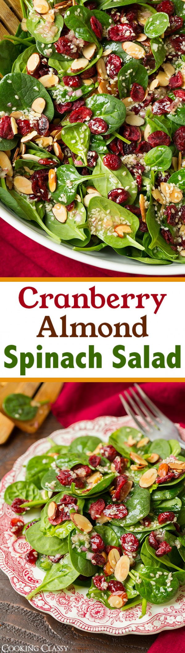 Get the recipe Cranberry Almond Spinach Salad @recipes_to_go