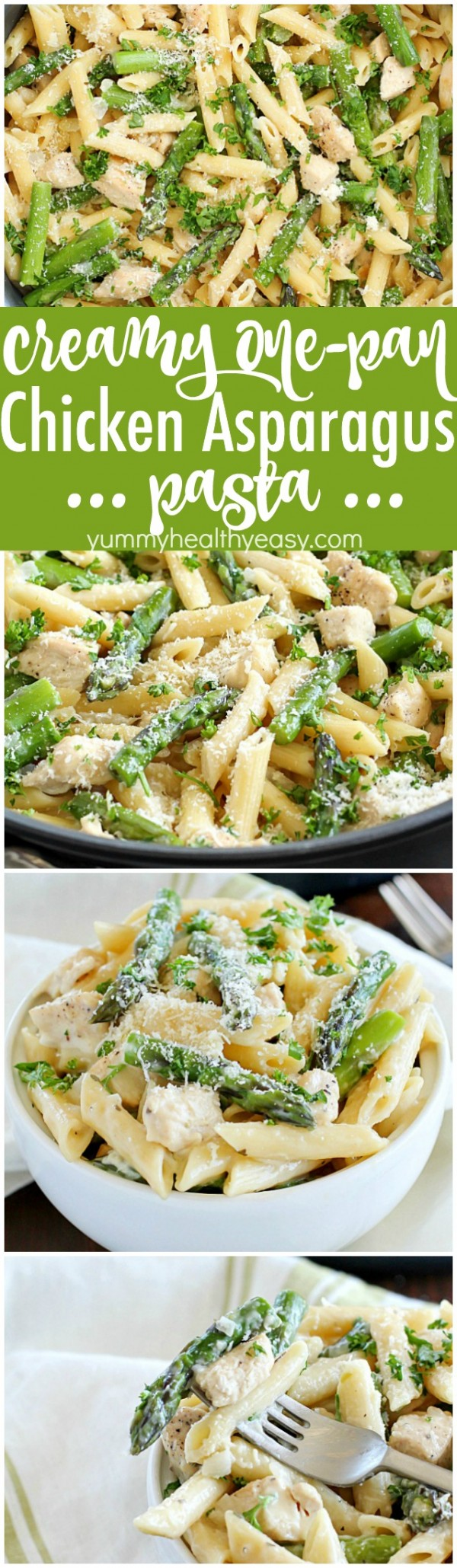 Get the recipe Creamy One-Pan Chicken Asparagus Pasta @recipes_to_go