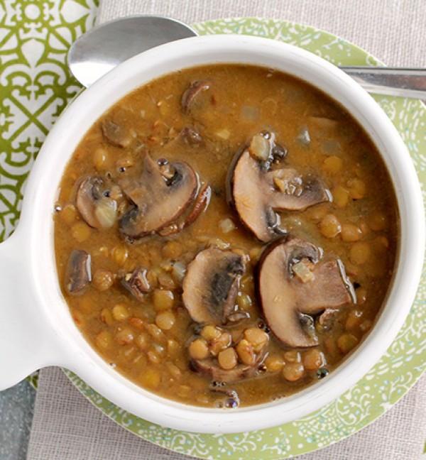 Get the recipe Creamy Mushroom and Lentil Soup @recipes_to_go