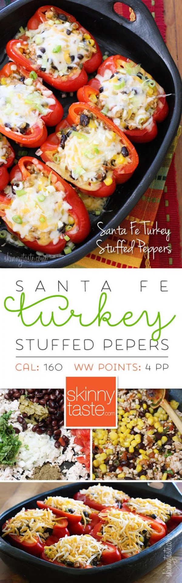 Get the recipe Santa Fe Turkey Stuffed Peppers @recipes_to_go