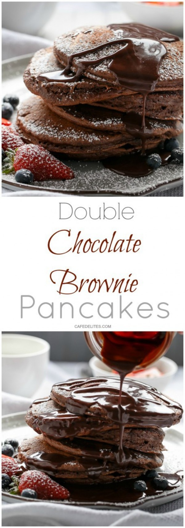 Get the recipe Double Chocolate Brownie Pancakes @recipes_to_go