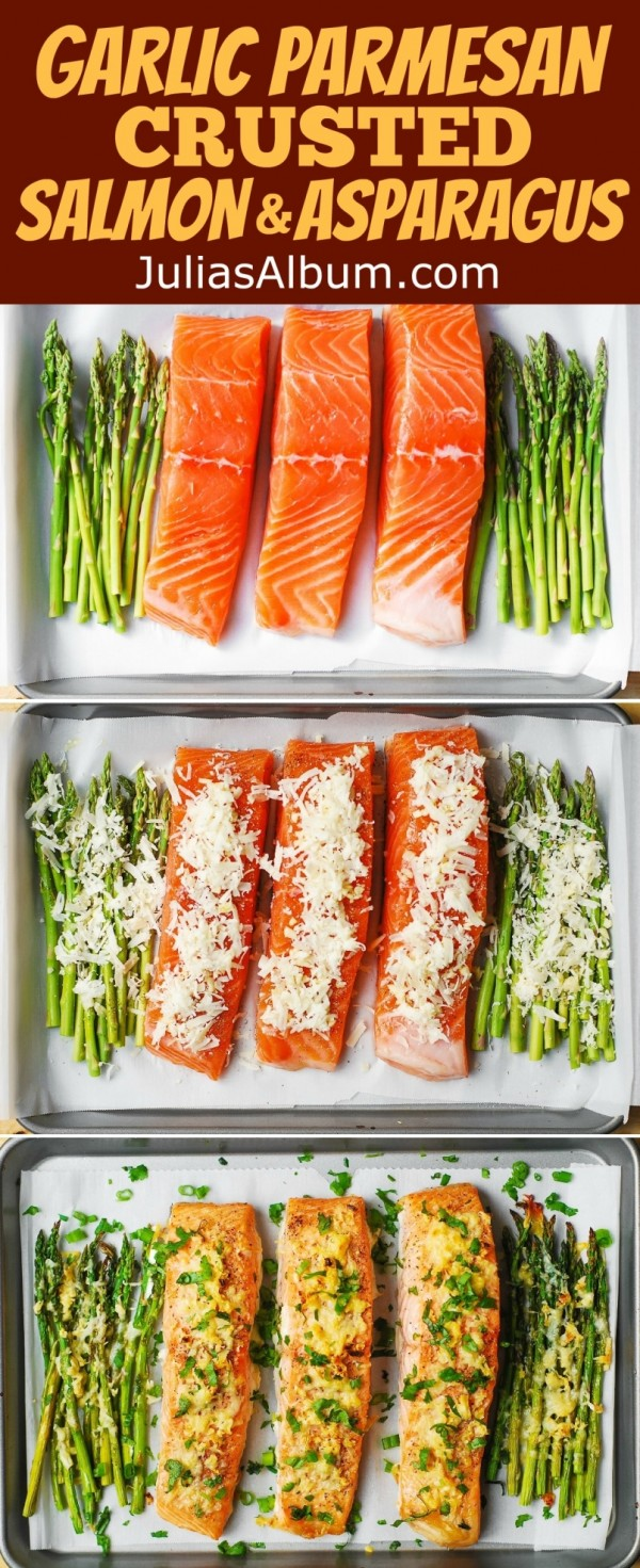 Get the recipe Garlic Parmesan Crusted Salmon and Asparagus @recipes_to_go