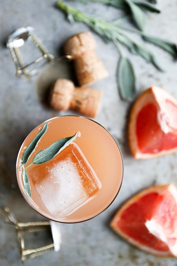 Get the recipe Grapefruit and Sage Champagne Cocktail @recipes_to_go