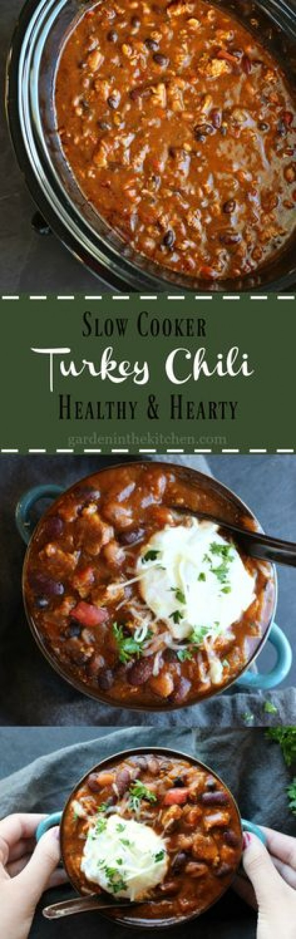 Get the recipe Slow Cooker Turkey Chili @recipes_to_go