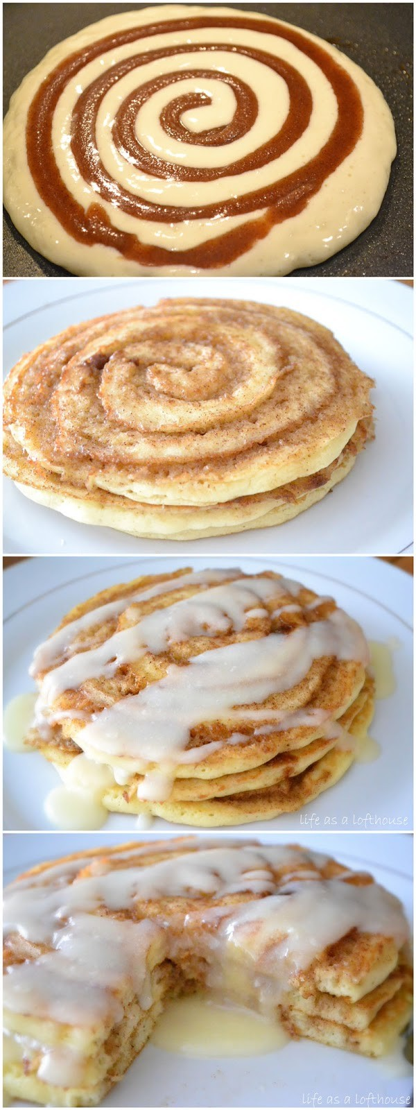 Get the recipe Cinnamon Roll Pancakes @recipes_to_go
