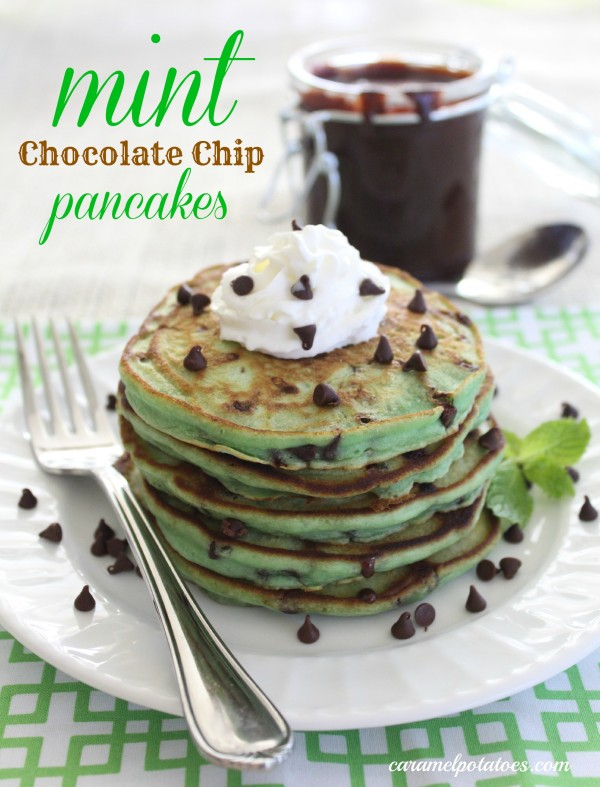 Get the recipe Mint Chocolate Chip Pancakes @recipes_to_go