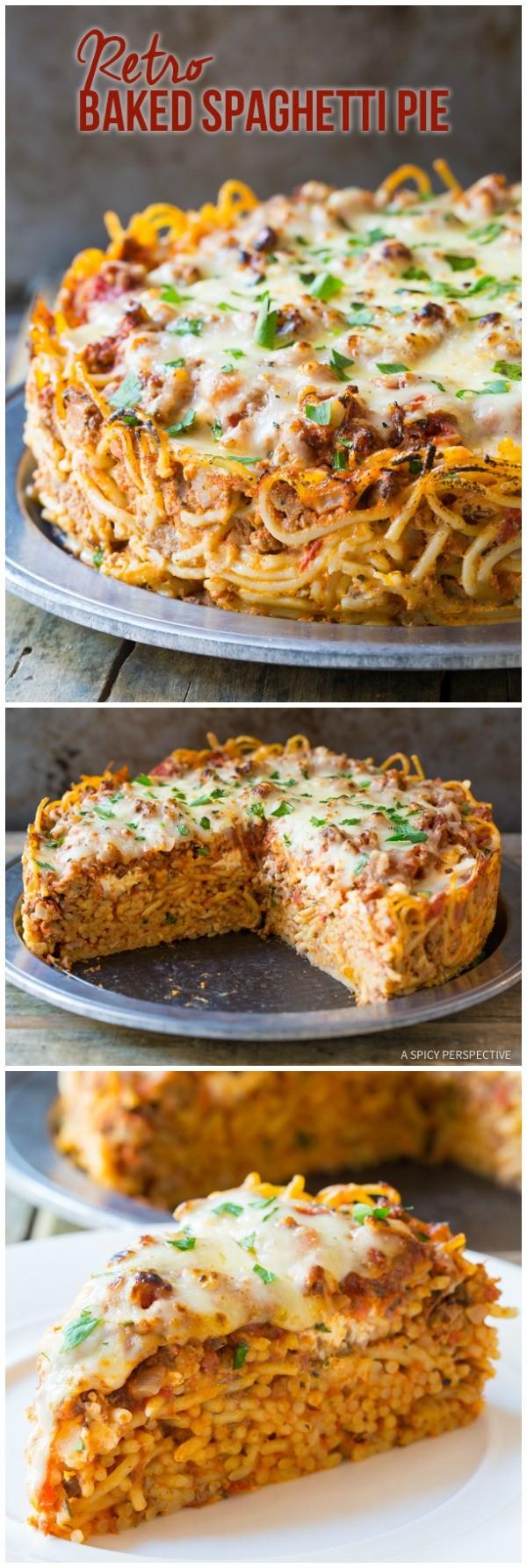 Get the recipe Retro Baked Spaghetti Pie @recipes_to_go
