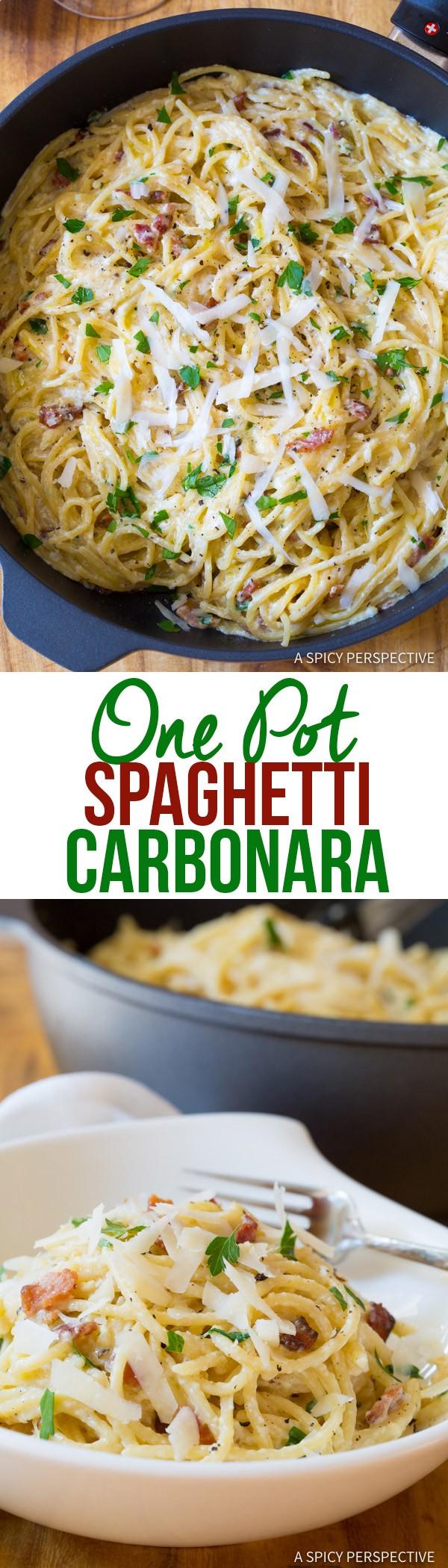 Get the recipe One Pot Spaghetti Carbonara @recipes_to_go