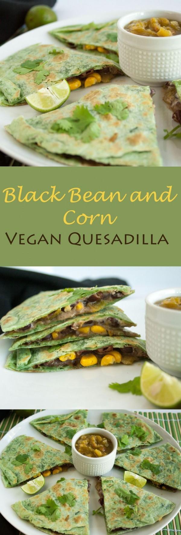 Get the recipe Black Bean and Corn Vegan Quesadilla @recipes_to_go