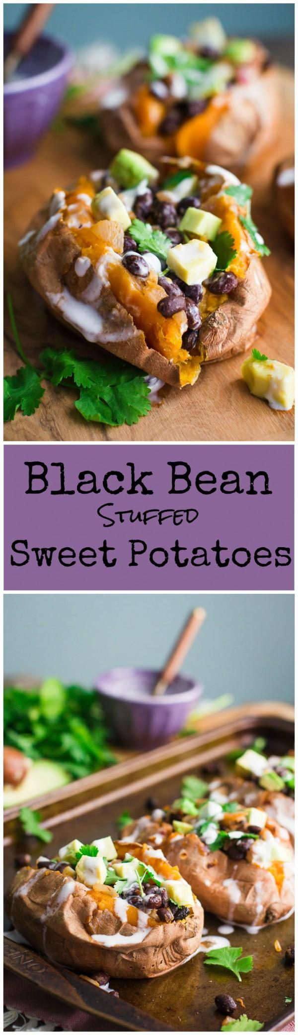 Get the recipe Black Bean Stuffed Sweet Potatoes @recipes_to_go