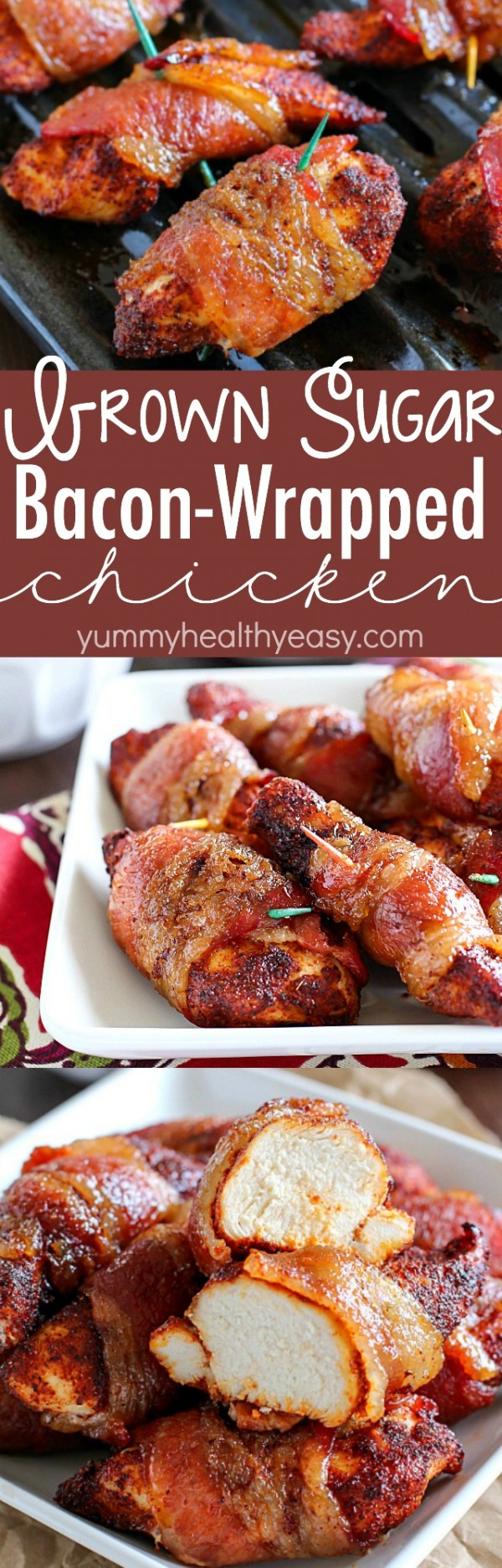 20 Unforgettable Chicken Recipes for a Romantic Dinner for Two - Get the recipe Brown Sugar Bacon Wrapped Chicken @recipes_to_go