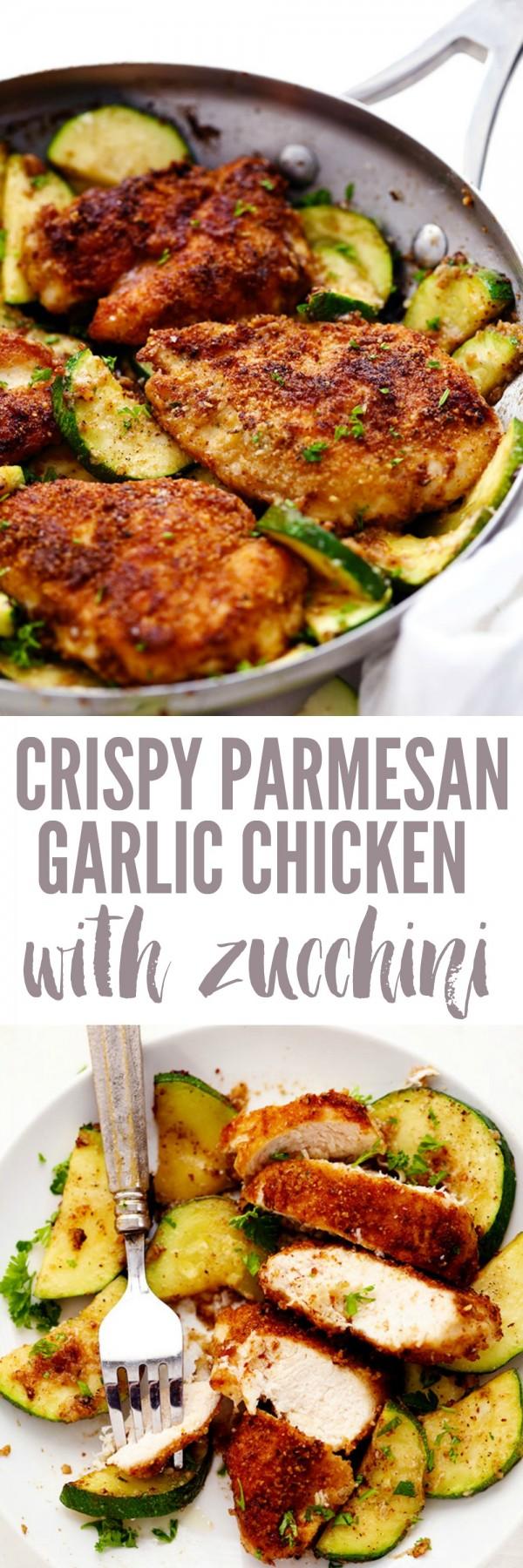 Get the recipe Crispy Parmesan Garlic Chicken with Zucchini @recipes_to_go