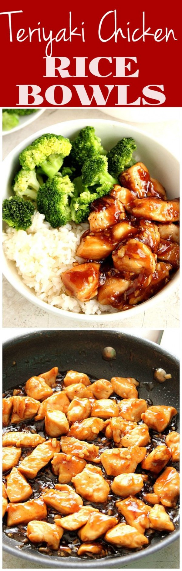 20 Unforgettable Chicken Recipes for a Romantic Dinner for Two - Get the recipe Teriyaki Chicken Rice Bowls @recipes_to_go