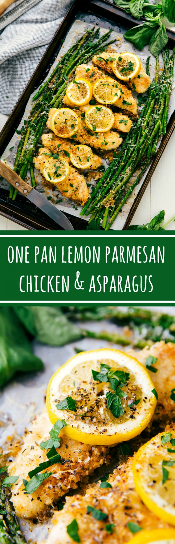 20 Unforgettable Chicken Recipes for a Romantic Dinner for Two - Get the recipe One Pan Lemon Parmesan Chicken and Asparagus @recipes_to_go