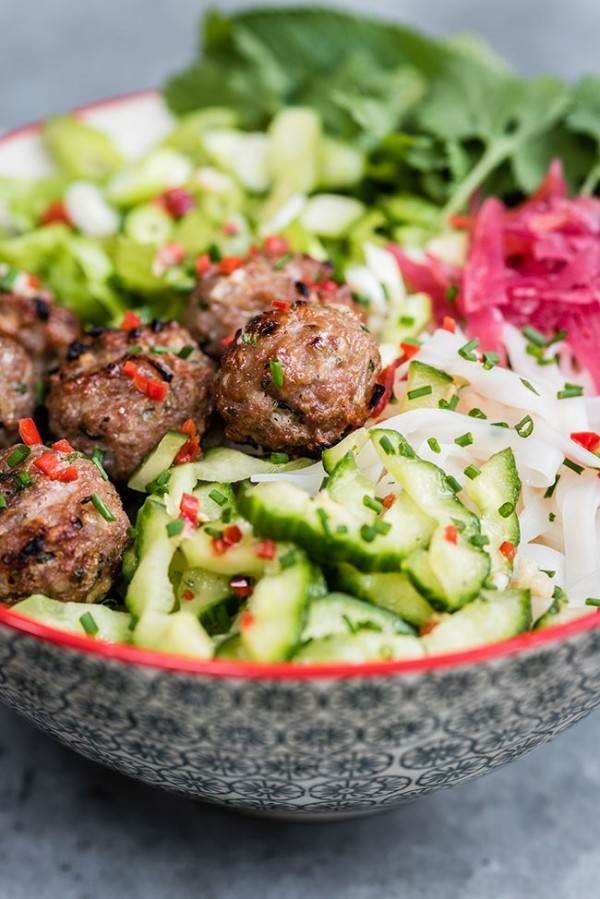 Get the recipe Vietnamese Pork Meatballs with Rice Noodle Salad @recipes_to_go