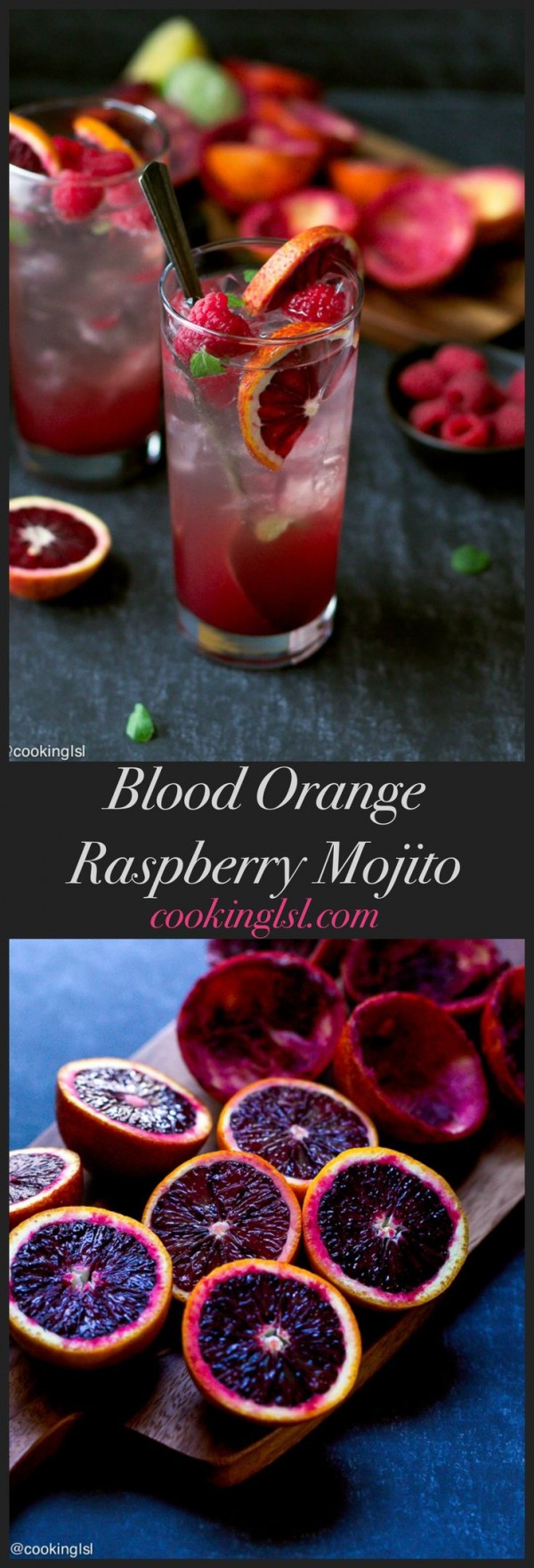 Get the recipe Blood Orange and Raspberry Mojito @recipes_to_go