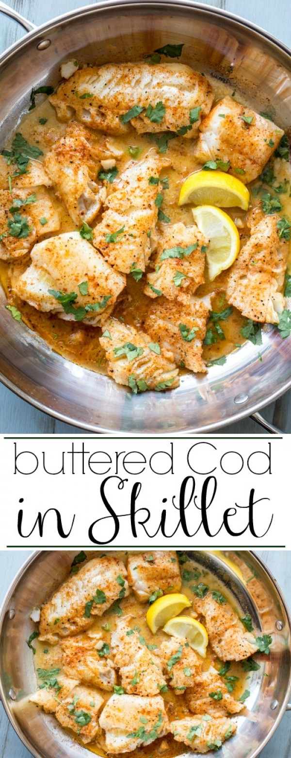 Get the recipe Buttered Cod in Skillet @recipes_to_go