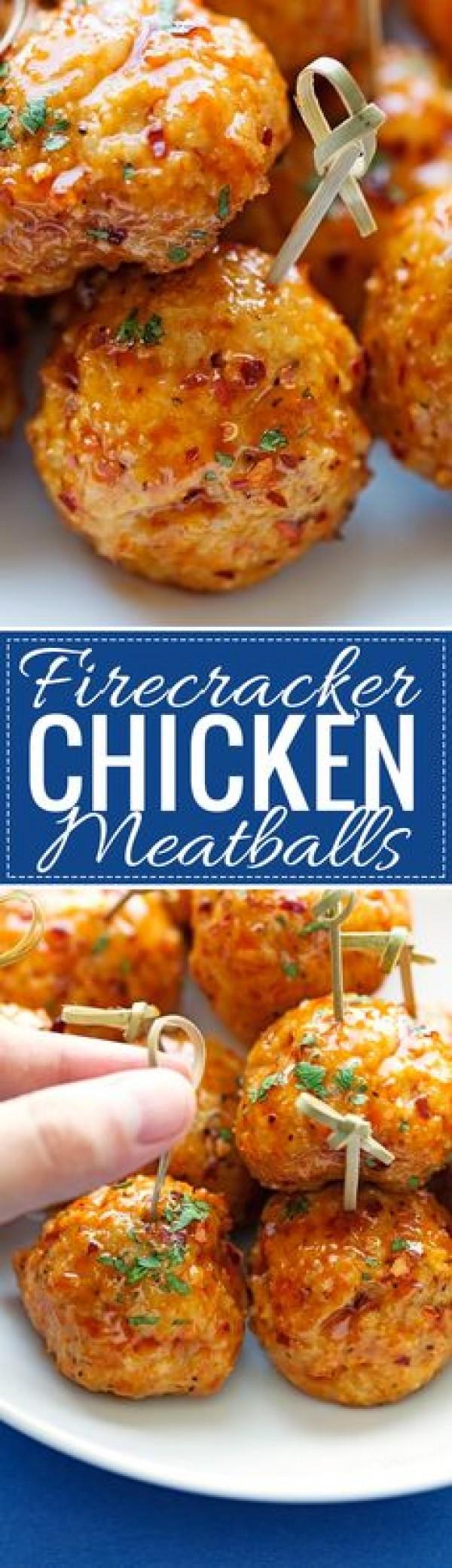 Get the recipe Firecracker Chicken Meatballs @recipes_to_go