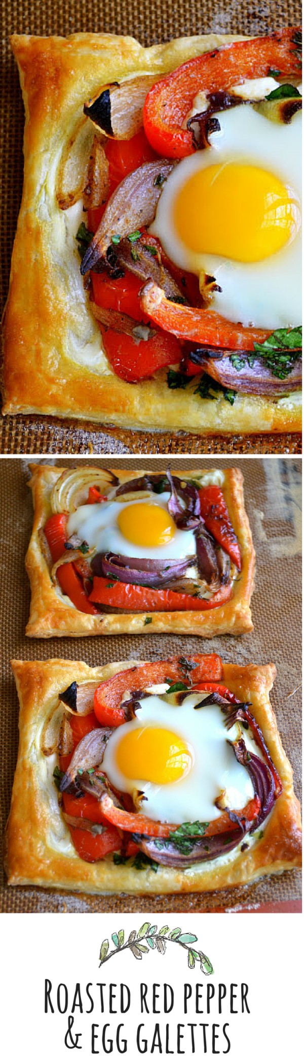 Get the recipe Roasted Red Pepper and Egg Galettes @recipes_to_go