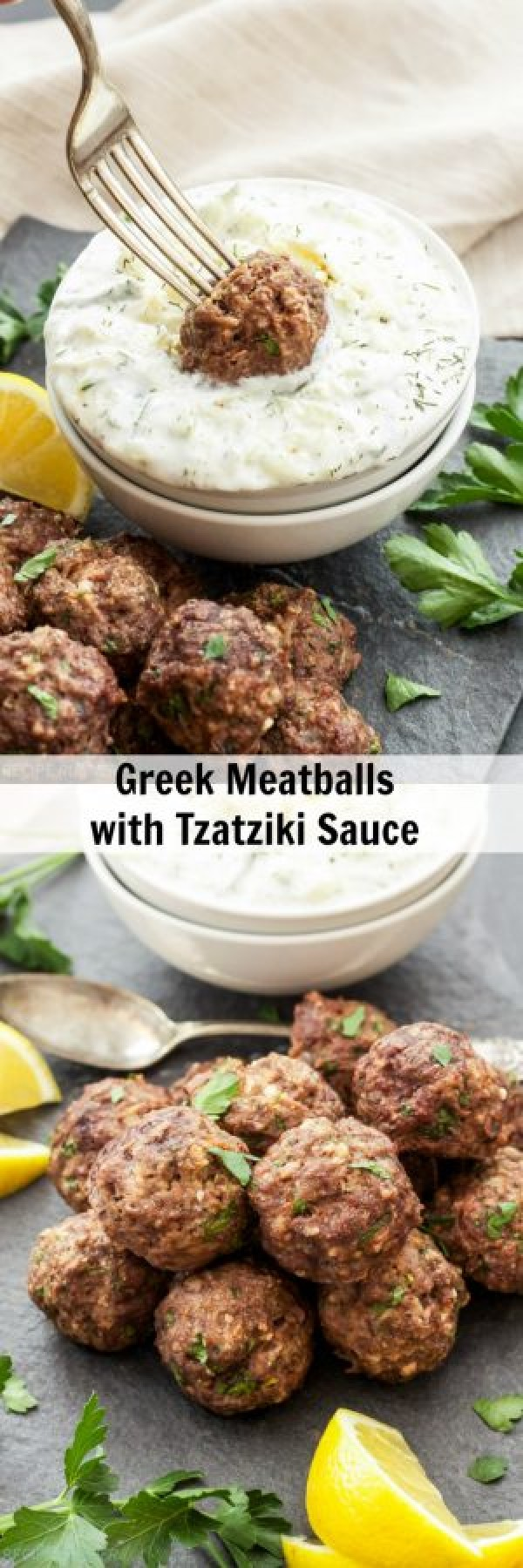 Get the recipe Greek Meatballs with Tzatziki Sauce @recipes_to_go
